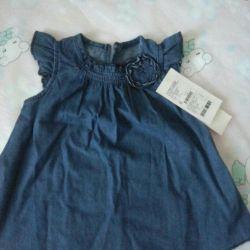 Büyüme için yeni kot elbise 74