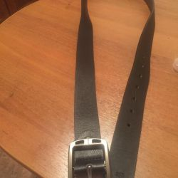 Leather, men's belt, 125cm
