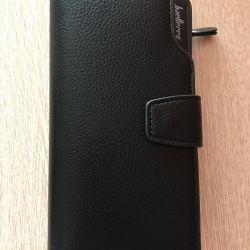 Handmade purse black. Male