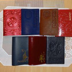 Кожаные обложки на паспорт разные