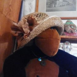 Doğal kamış şapka yaz