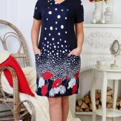 Dress (cooler-cotton 100%) size. 52 and 58.