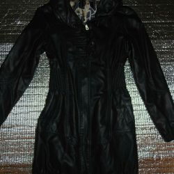 Куртка подовжена кожзам
