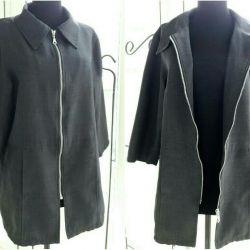 Fermuarlı kadın ceket. Vizyon Tasarımı