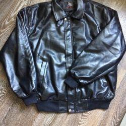 Мужская куртка искусственная кожа