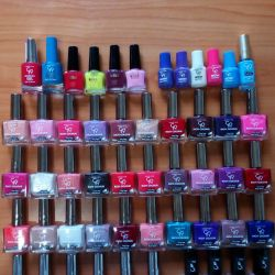 Nail varnishes in stock