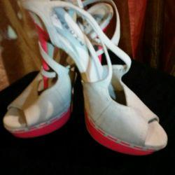 Suede shoes. Comfortable.