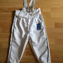 Fencing pants 8-13 years old
