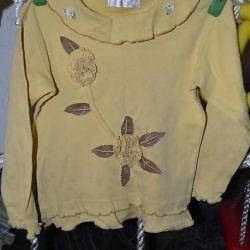 Cute tricou pentru o fată pentru o înălțime de 3 4 ani100 105