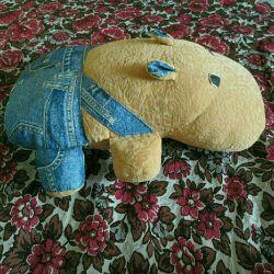 Hippo throw pillow new