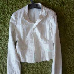 Μπουφάν (σακάκι) λευκό για το κορίτσι