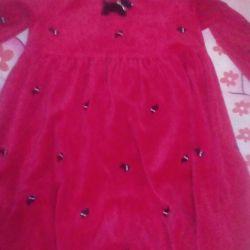 Velor dress for 9-10 years