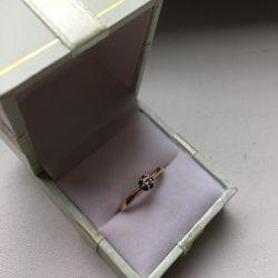 Χρυσό δαχτυλίδι με διαμάντι