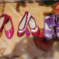 Новые туфли и босоножки 36р.По стельке 23см.