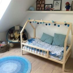 Children's bed house