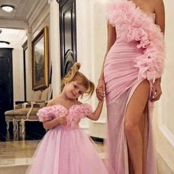 Dress for girls and mother