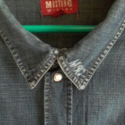Denim shirt. MUSTANG.r.50-52.