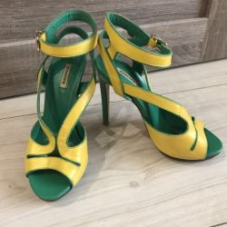 Sandals mascotte leather new
