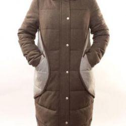 Yeni kaşmir aşağı ceketler 44 ila 54