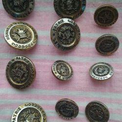 Vintage κουμπιά από ένα ελίτ club jacket