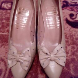 Shoes. Size 36.5-37. Yugoslavia. Natural Leather ..