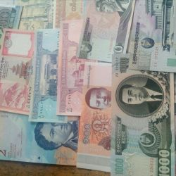 Banknotes in the press