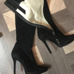 Νέες μπότες σουέτ, δέρμα p37 Ιταλία.