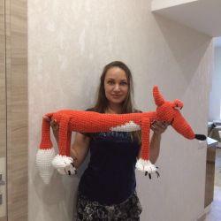 Plush fox 110 cm.