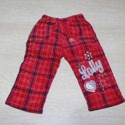 Velveteen warm pants on a warm lining