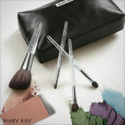 A set of brushes for makeup.