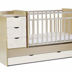 Children's bed transformer Giraffe Gift2 Mattress