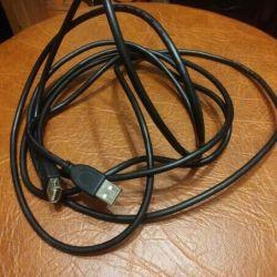 Καλώδιο επέκτασης USB μαύρο 3 μέτρα για 100 ρούβλια, λευκό 1