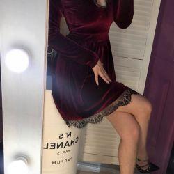 Bordeaux dress with guipure