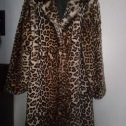 Fur coat from eco-fur size 48 new