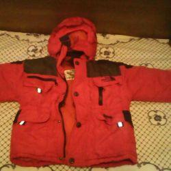 2-3 yıl boyunca çocuk kış ceket