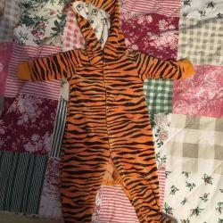 Παιδική τίγρη κοστούμι