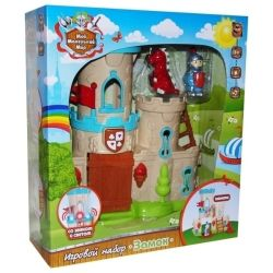 Knight κάστρο, δράκος και σκάλες, ελαφρύ και ήχο