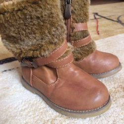 Leather boots for a girl