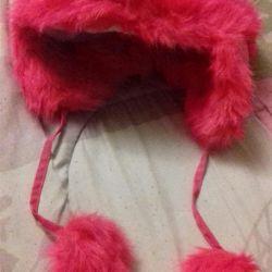 Зимняя яркая новая шапка