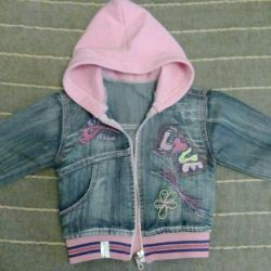 The jacket is jeans, size 86-92