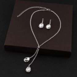 Delicate Necklace + Earring Set
