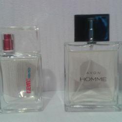 Kenzo L'eau-2, 30 ml and Avon Homme, 75 ml