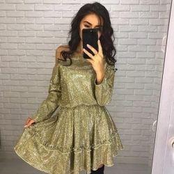 Платье женское люрекс