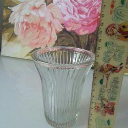 Vaza de sticlă, suport pentru șervețel. Antichități