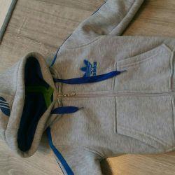 Jacket with a zipper