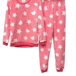 Женские теплые флисовые пижамы