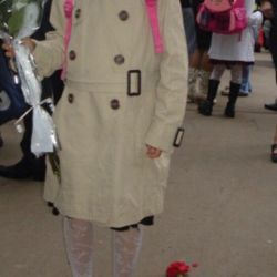 Zara coat for girls beige 6-8 years