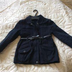 Thick fabric raincoat, warm