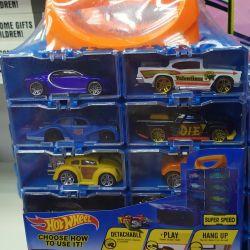 Set of cars Hot wheels + storage case