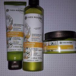 Îngrijirea părului cu ovaz Yves Rocher
